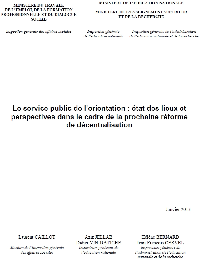 la une du rapport des IG sur le SPO